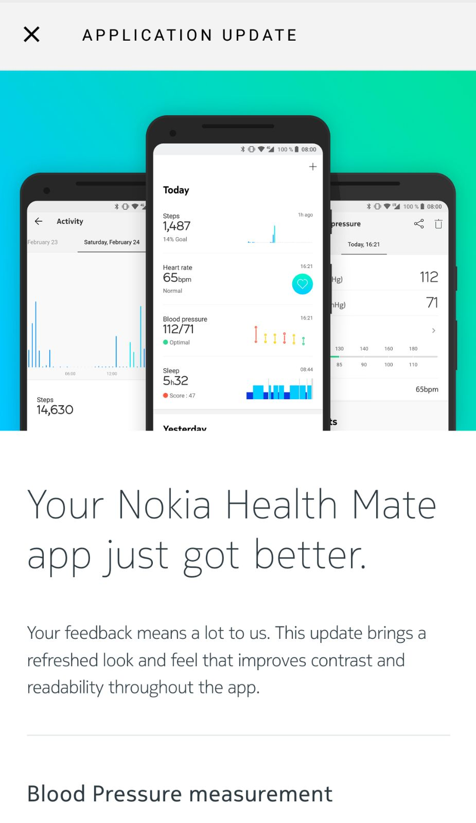 Nokia Has Released A New Update For Its Health Mate App The Latest Version Of Is 360 And Biggest Change In It Redesign Timeline