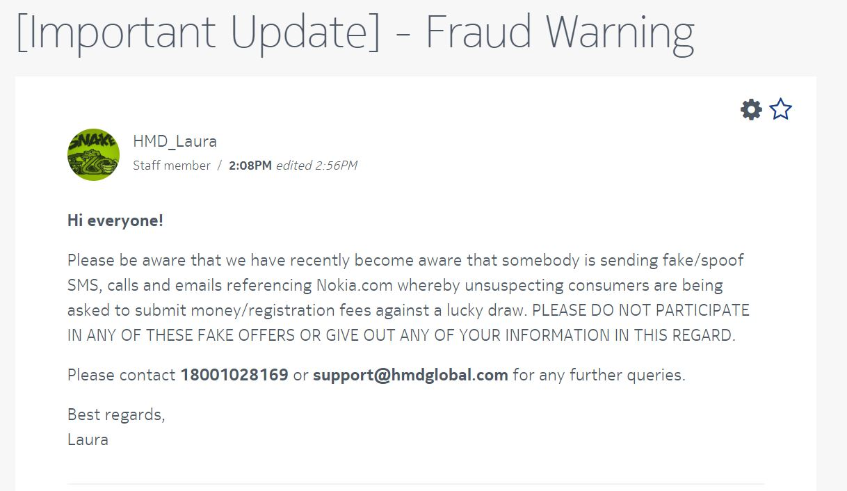 Fraud Warning: Users in India be aware of fake SMS/emails