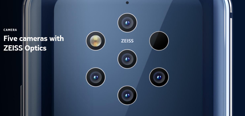 Resultado de imagem para Nokia 9 PureView