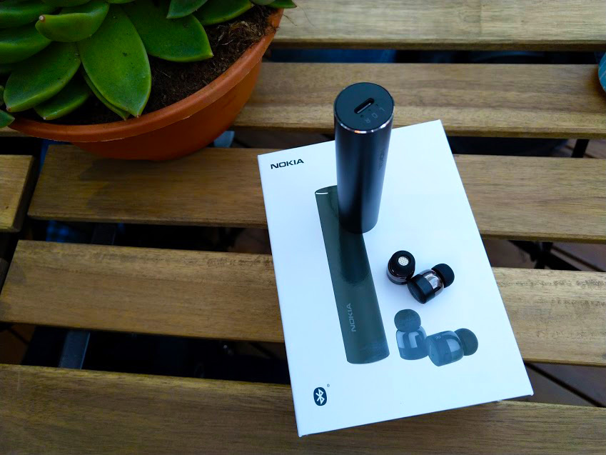 b17bab83797 The Nokia True Wireless Earbuds are more beautiful but also more expensive.  Small earbuds will provide you with some 5 hours of music, but the tube  case ...