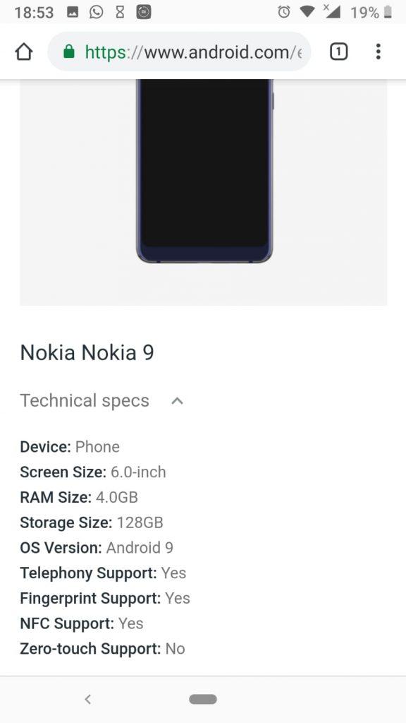 Google leaks Nokia 9 PureView via its Enterprise program