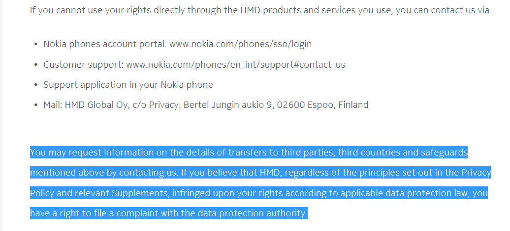Data Privacy Policy >> Hmd Data Privacy Policy 1 Nokiamob