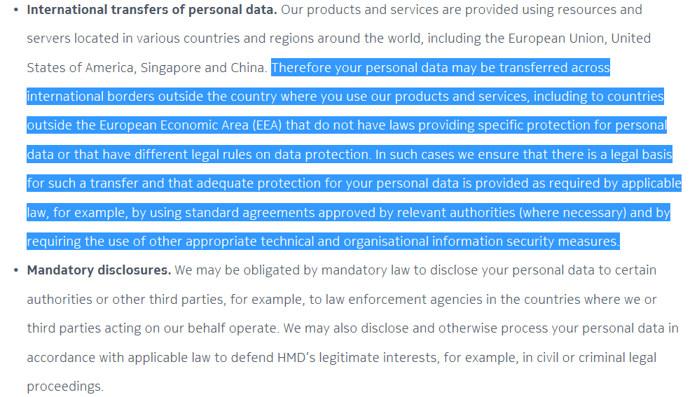 Data Privacy Policy >> Hmd Data Privacy Policy 4 Nokiamob