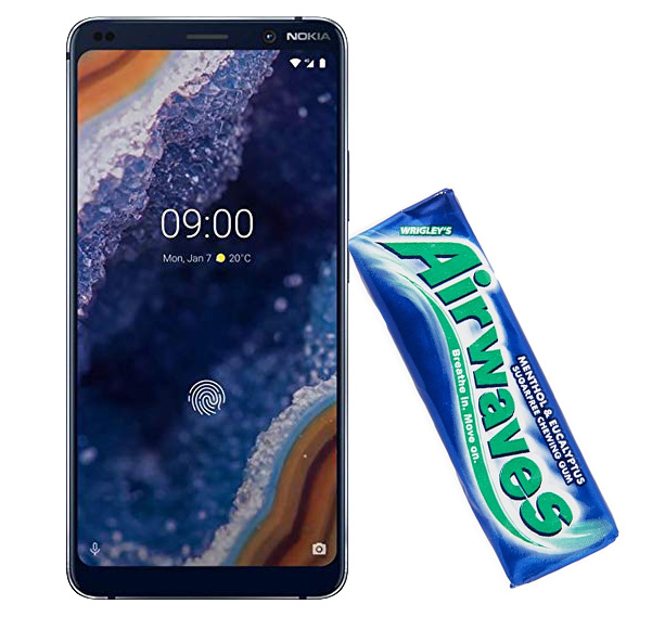 The Nokia 9 PureView can be hacked with chewing gum