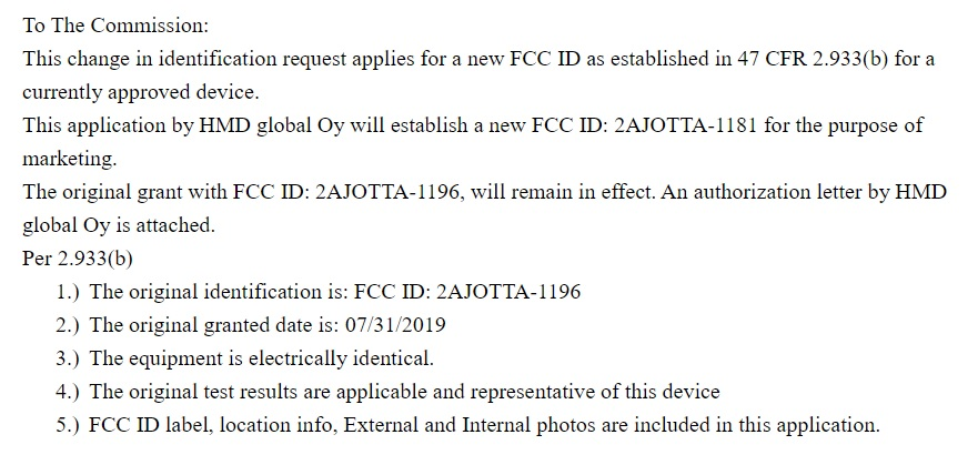 Nokia TA-1181 and TA-1187 passed the FCC certification | Nokiamob